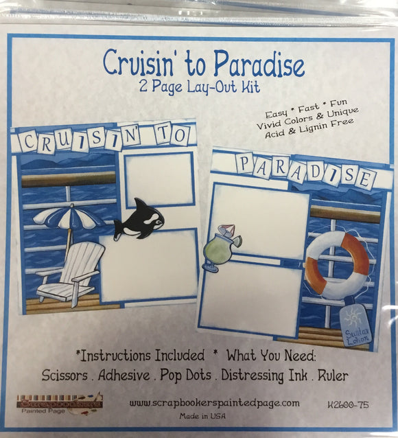 12x12 2 page layout kit Cruisin to Paradise