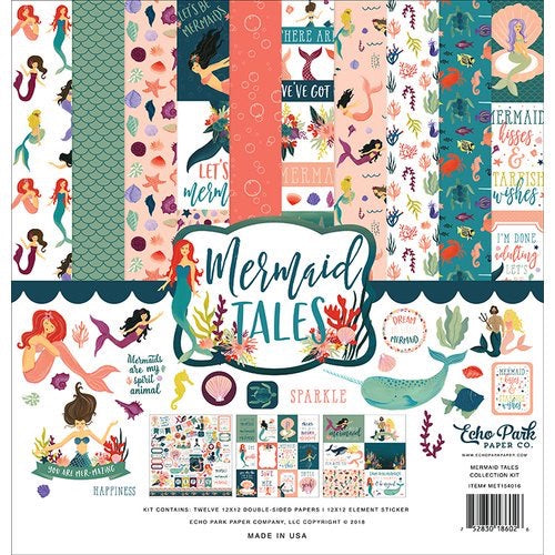 Echo park paper company 12x12 mermaid tales collection kit