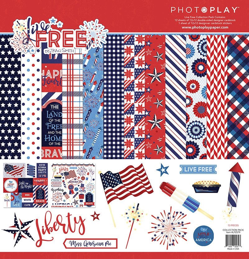 Land of the Free 12 x 12 paper pack collection kit