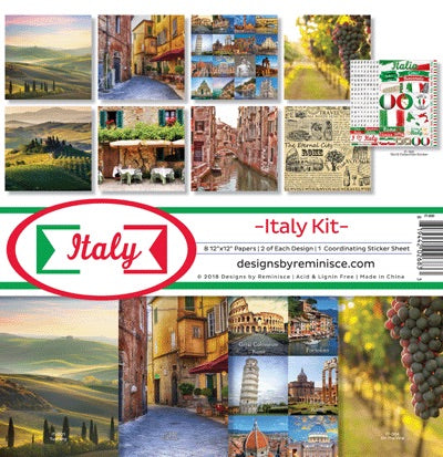 Designs by Reminisce- Italy 12x12 collection kit