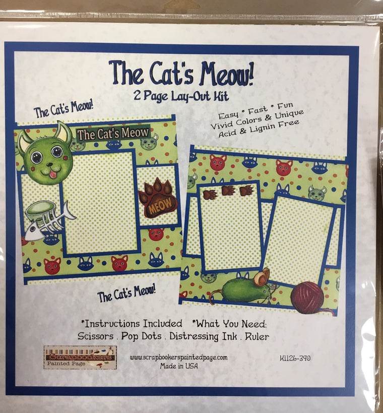 12x12 2 page layout kit The Cat's Meow