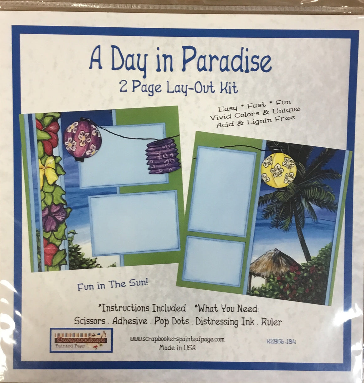 12x12 2 page layout kit A day in Paradise