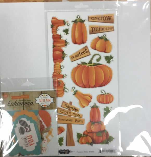 12x12 Schartner farm kit w/ 2 papers, 1 custom sticker sheet, 1 custom embellishment (varies)