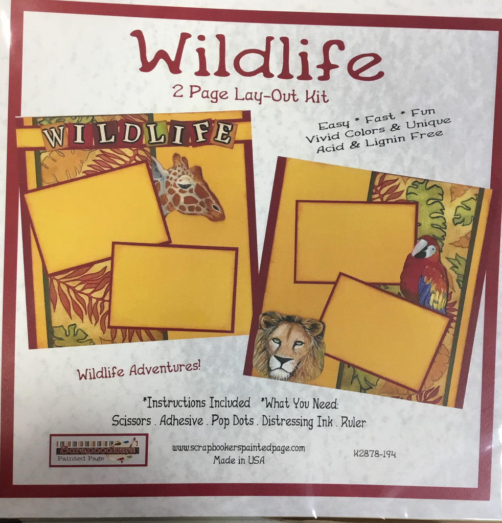 12x12 2 page layout kit Wildlife