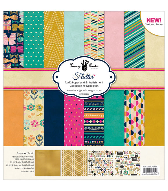 Fancy Pants designs 12x12 collection kit- Flutter