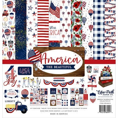 Echo park paper company 12x12 America the Beautiful collection kit