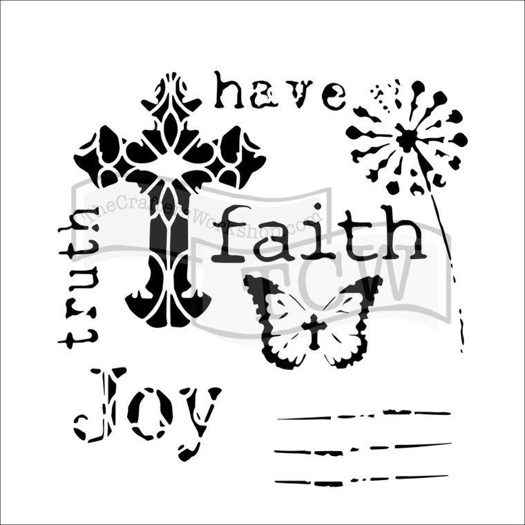 "6x6"" stencil - Mini Have Faith"