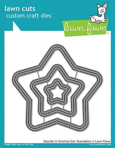 Lawn Fawn custom craft die- outside in stitched star stackables