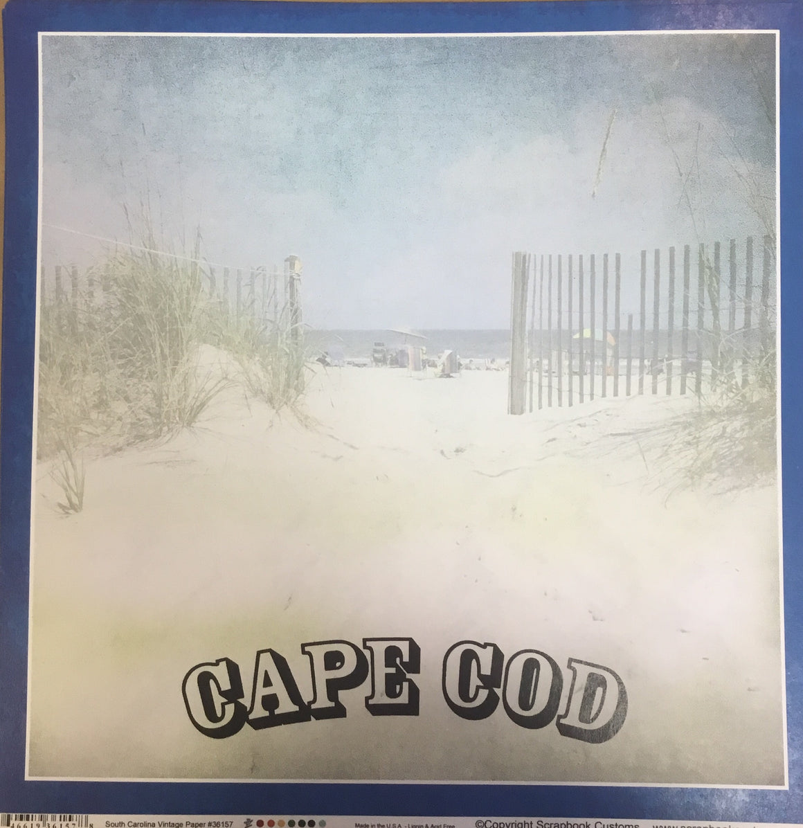 Cape Cod 12x12 single sheet