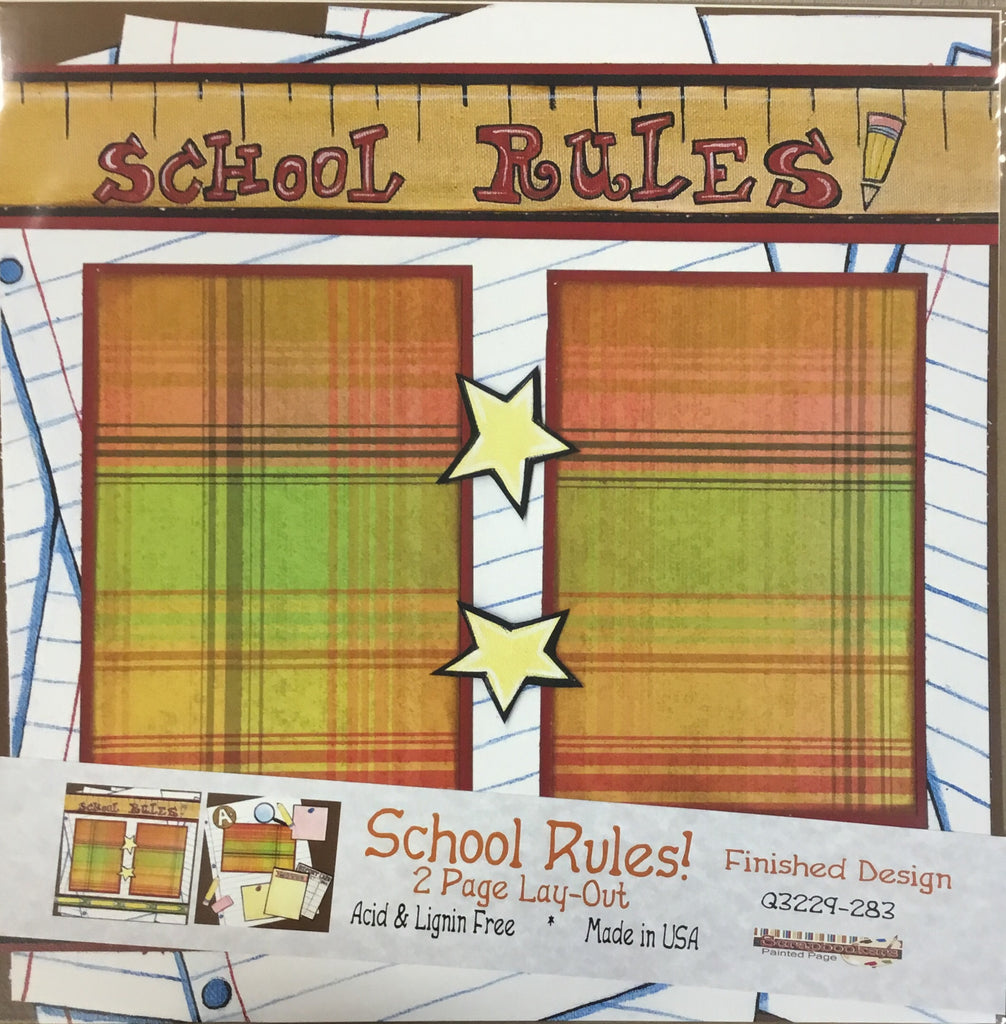12x12 2 page layout School Rules