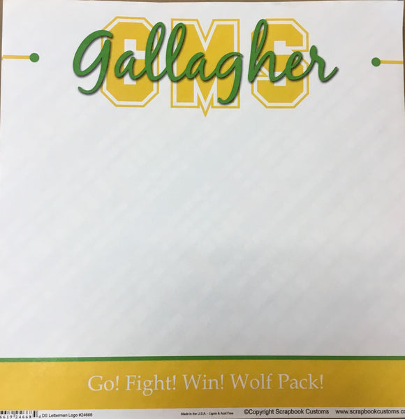 Gallagher middle school DS letterman logo