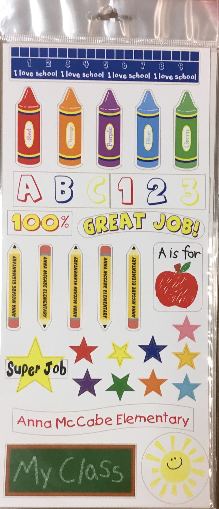 Anna McCabe School elementary rule stickers