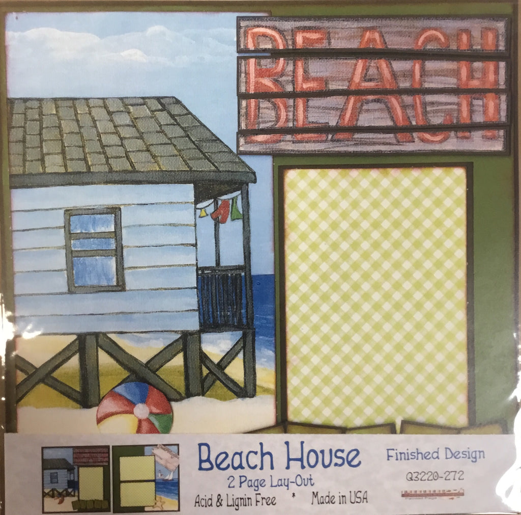 12x12 2 page layout Beach House