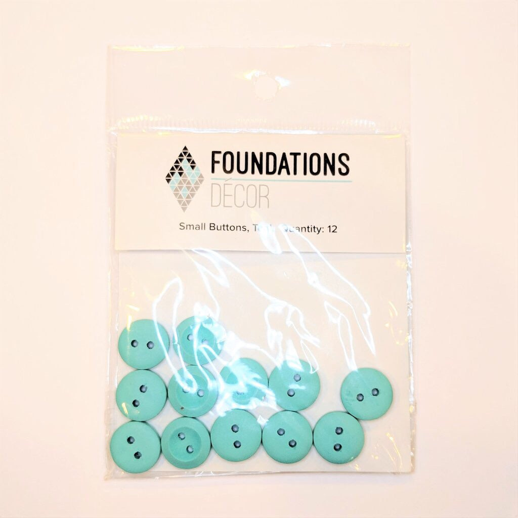 Foundations Decor Teal Small Buttons