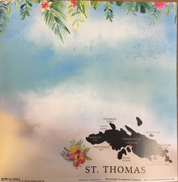 Saint Thomas 12x12 single sheet