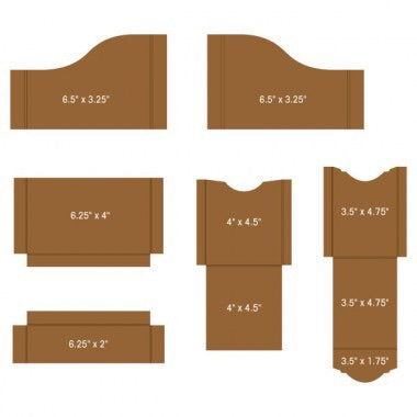 Heartfelt Creations Inserts Pocket and Flipfold A-Kraft