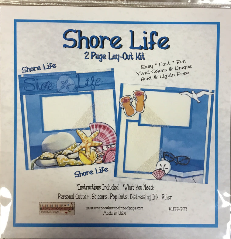 12x12 2 page layout kit Shore Life