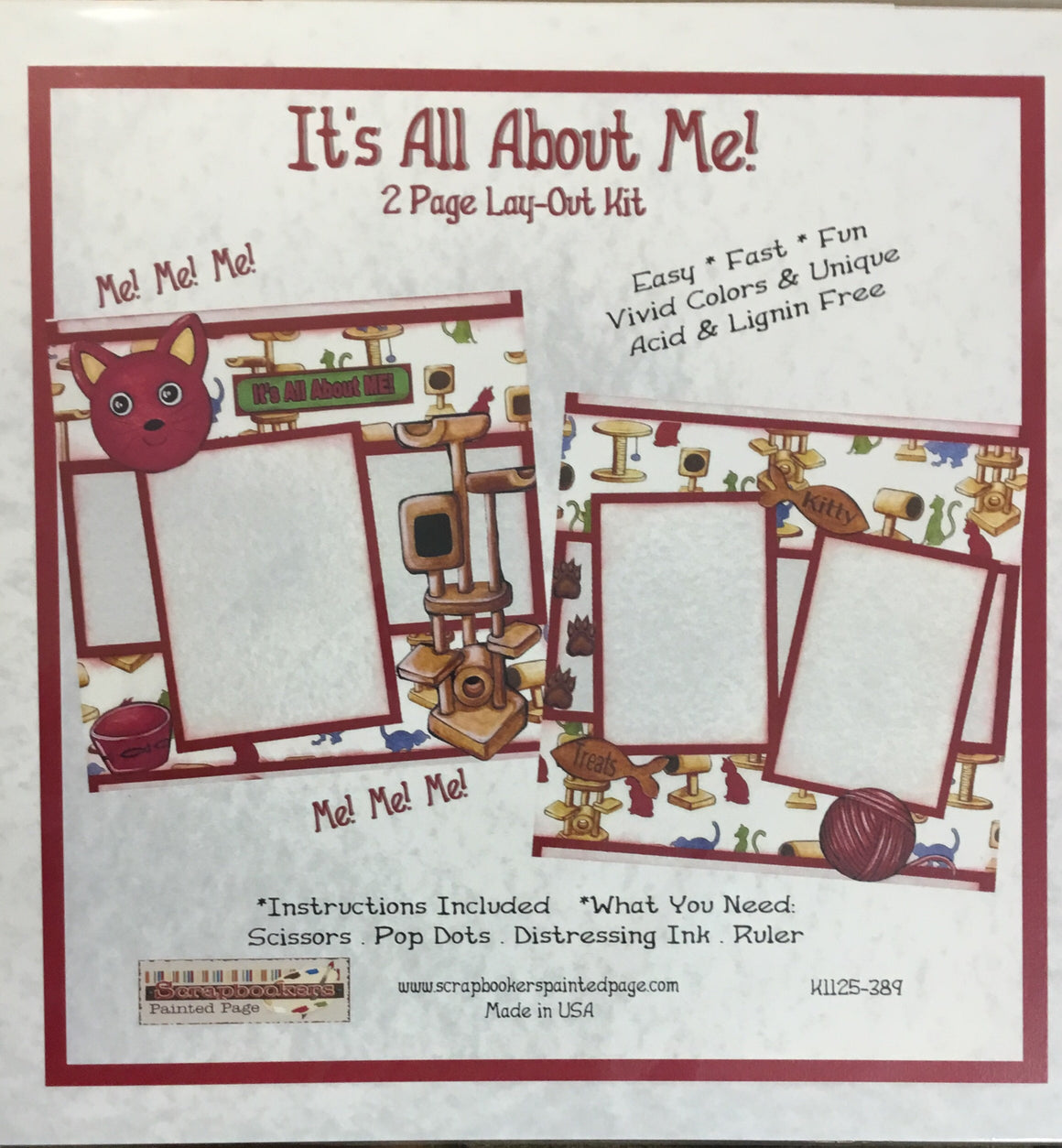 12x12 2 page layout kit It's all about me
