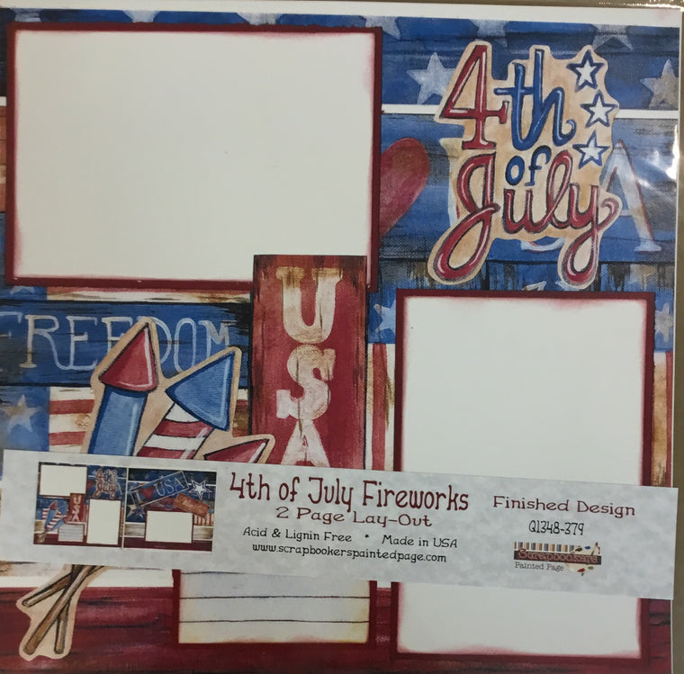 12x12 2 page layout 4th of July Fireworks