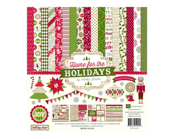 Echo park Home for the Holidays 12x12 collection kit