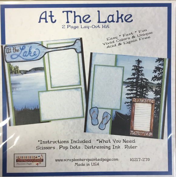 12x12 2 page layout kit At The Lake