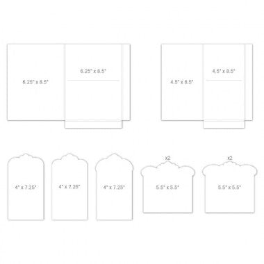 Heartfelt Creations Inserts Pocket and Flipfold F-White