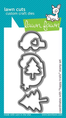 Lawn Fawn custom craft die- happy trails