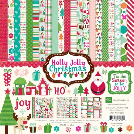 Echo park paper company 12x12 holly jolly Christmas collection kit