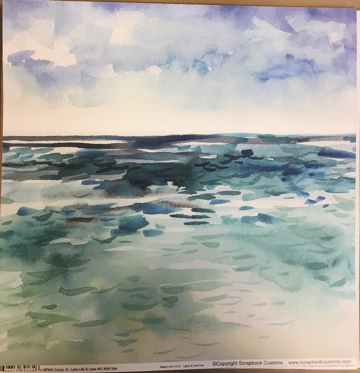 Lake Winnipesaukee 12x12 single sheet