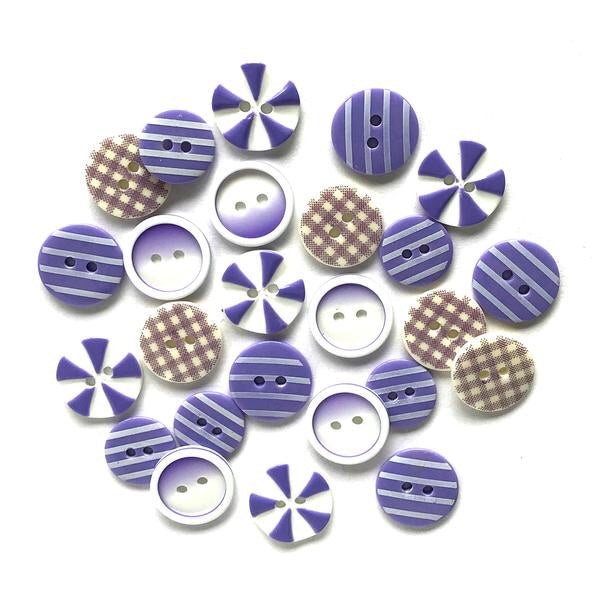 Buttons Galore printed buttons- Plum Crazy