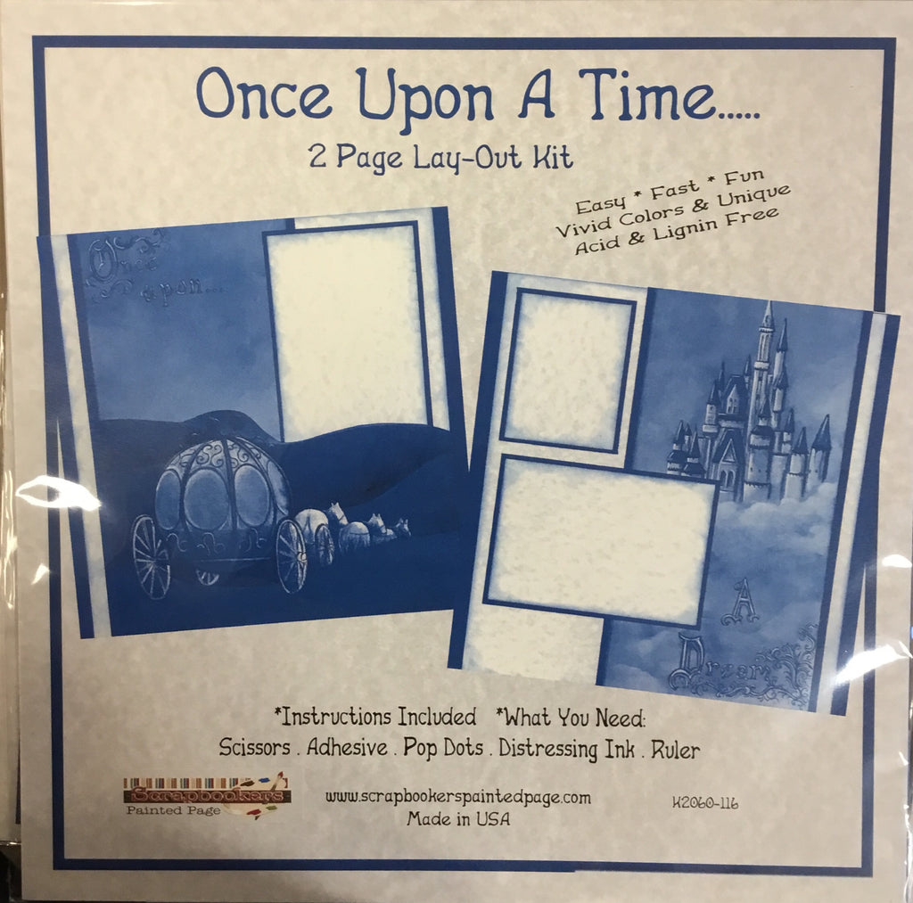 12x12 2 page layout kit Once Upon A Time