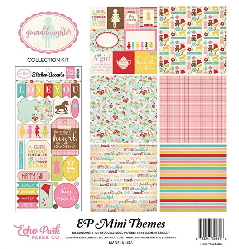 Echo park paper company 12x12 granddaughter collection kit