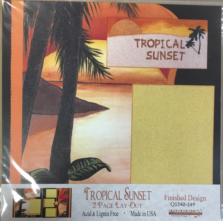12x12 2 page layout Tropical Sunset