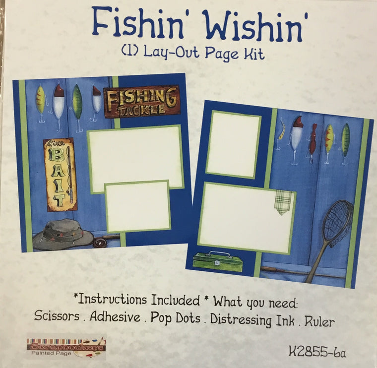 12x12 2 page layout kit Fishin' Wishin