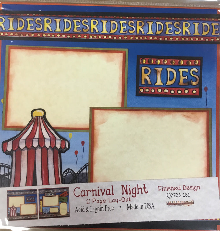12x12 2 page layout Carnival Night