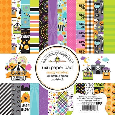 Candy carnival 6x6 paper pad