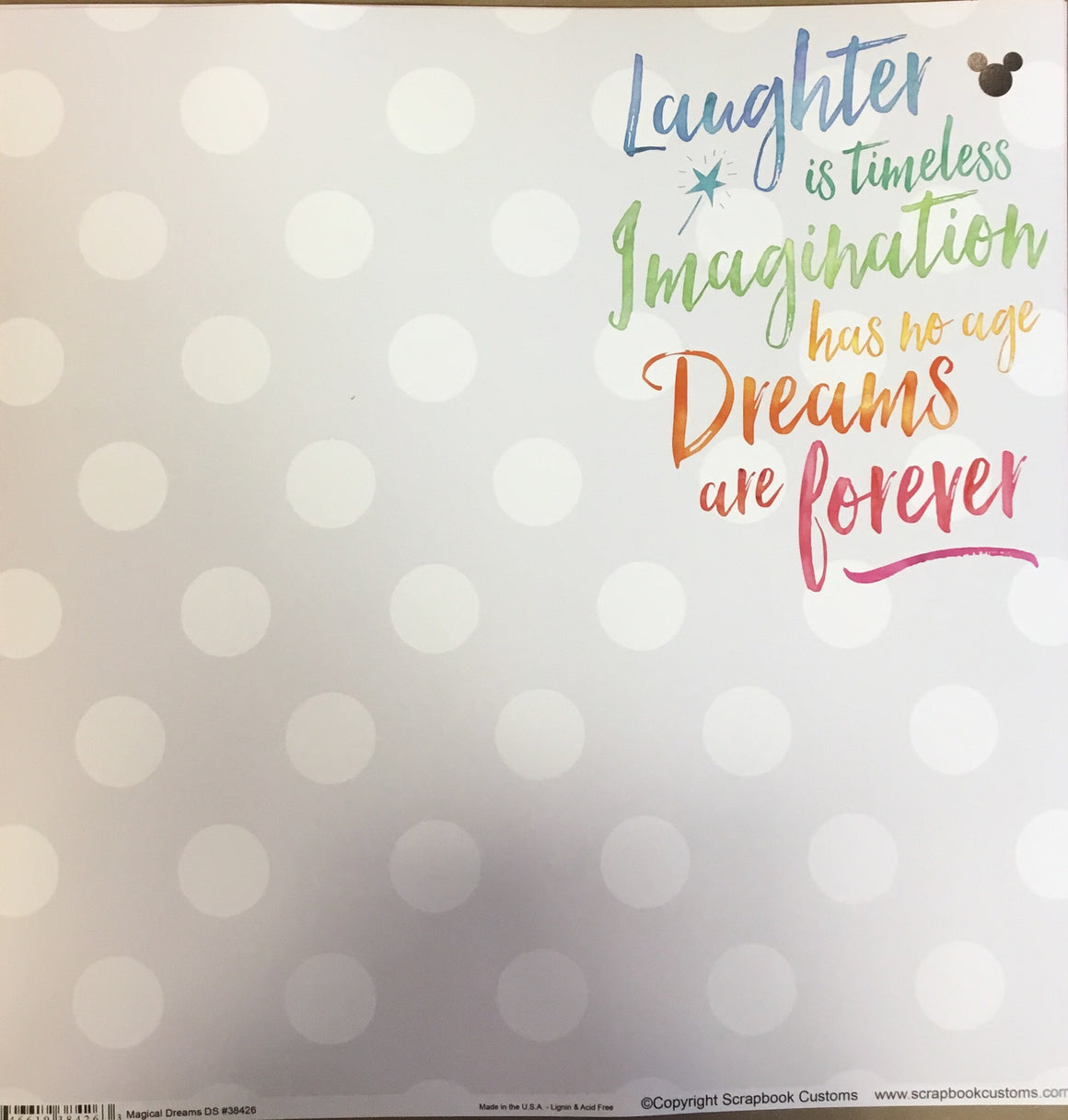 Magical Dreams 12x12 single sheet