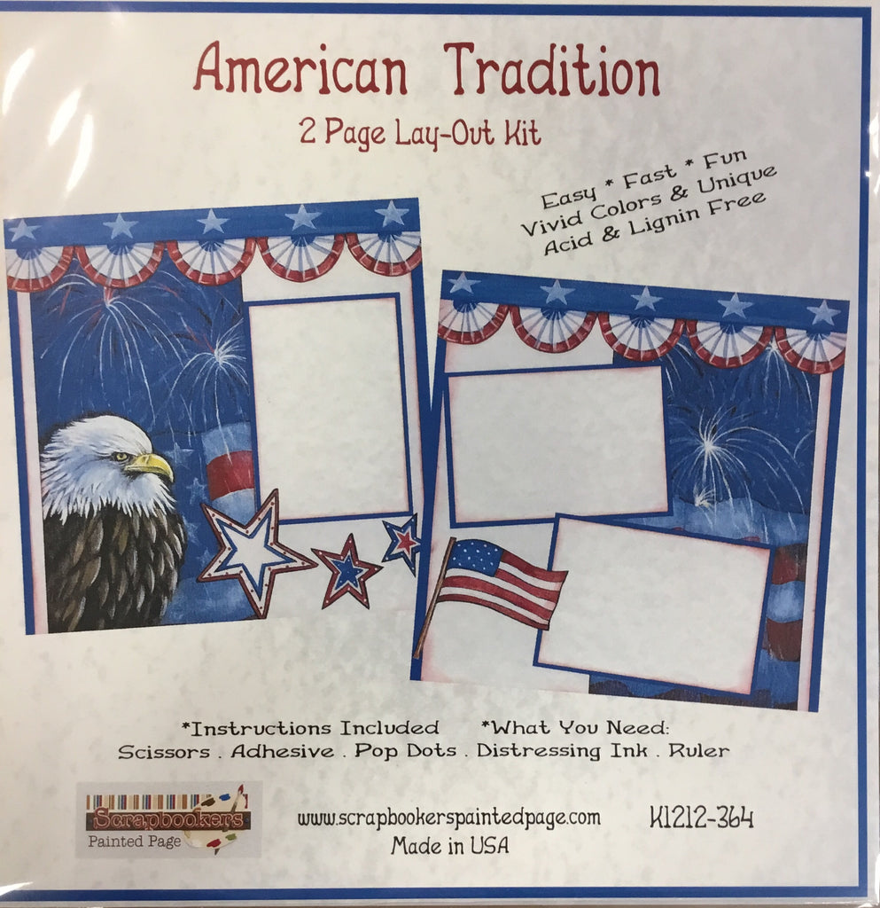 12x12 2 page layout kit American Tradition