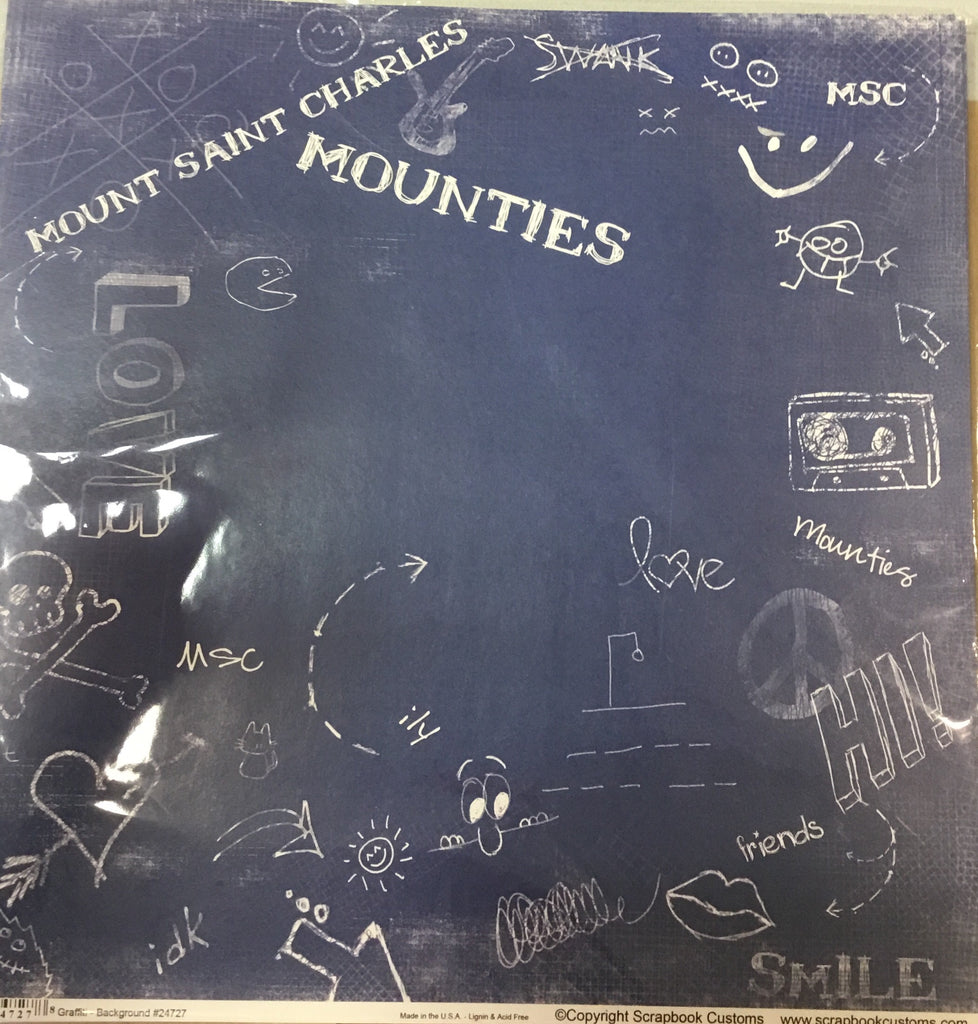 Mount Saint Charles Academy graffiti- background