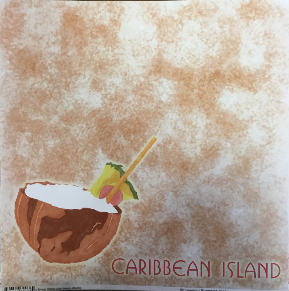 Caribbean Island 12x12 single sheet