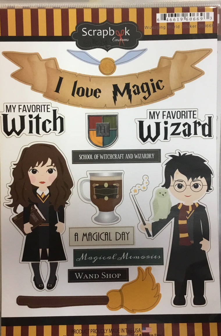 Wizarding World Harry Potter craft stickers