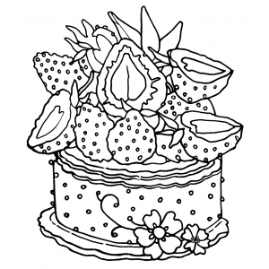 Art Gone Wild Rubber stamps- Strawberry Cake