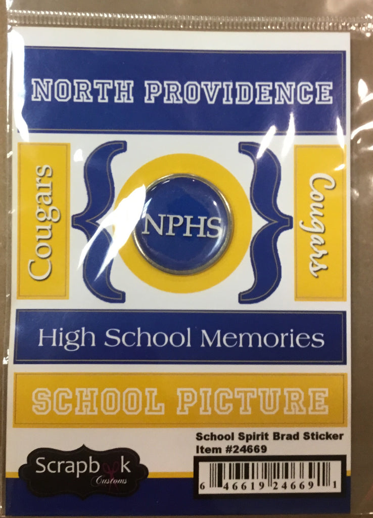 North Providence High School school spirit brad sticker sheet