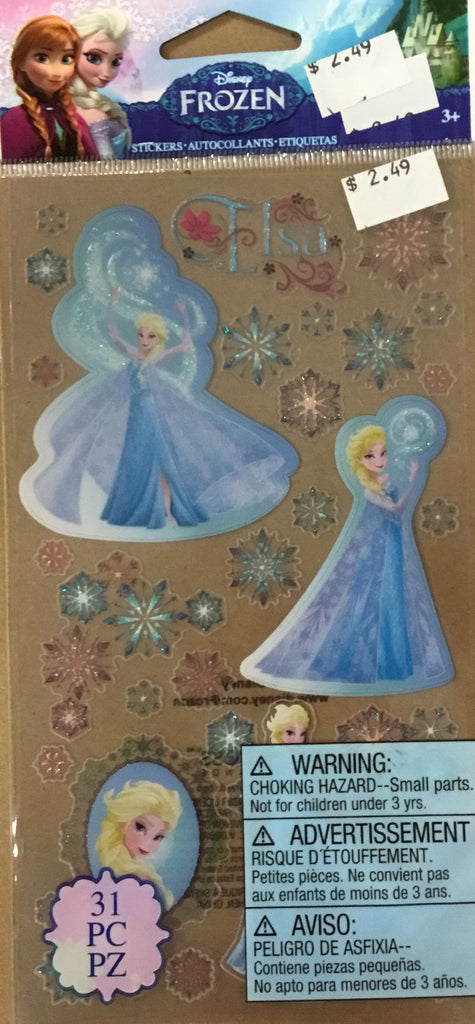Eksuccess Frozen Elsa and Snowflakes flat stickers