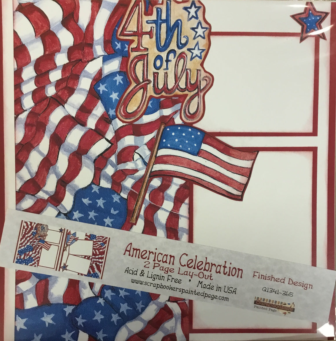 12x12 2 page layout American Celebration