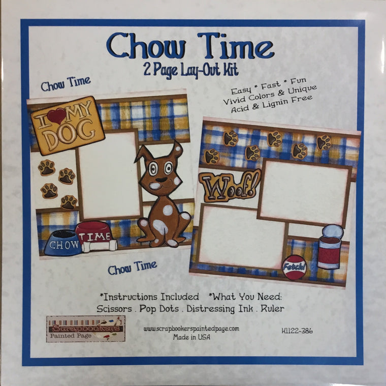 12x12 2 page layout kit Chow Time