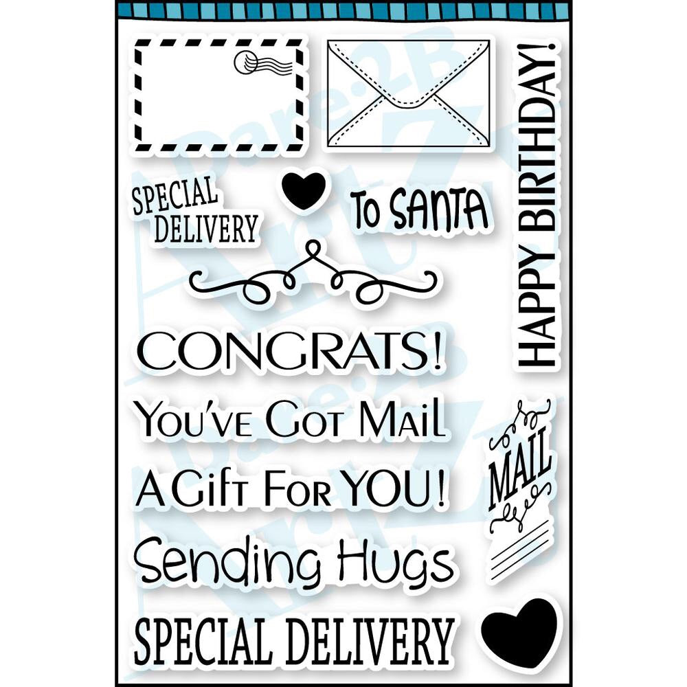 Dare 2B Artzy clear stamps- You've got Mail