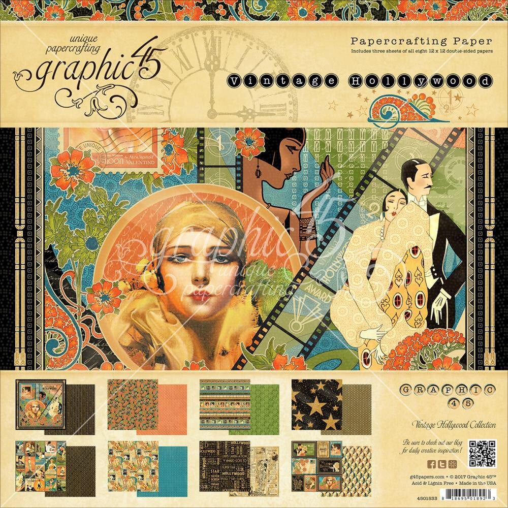 Graphic45 Vintage Hollywood 12x12 Collection kit