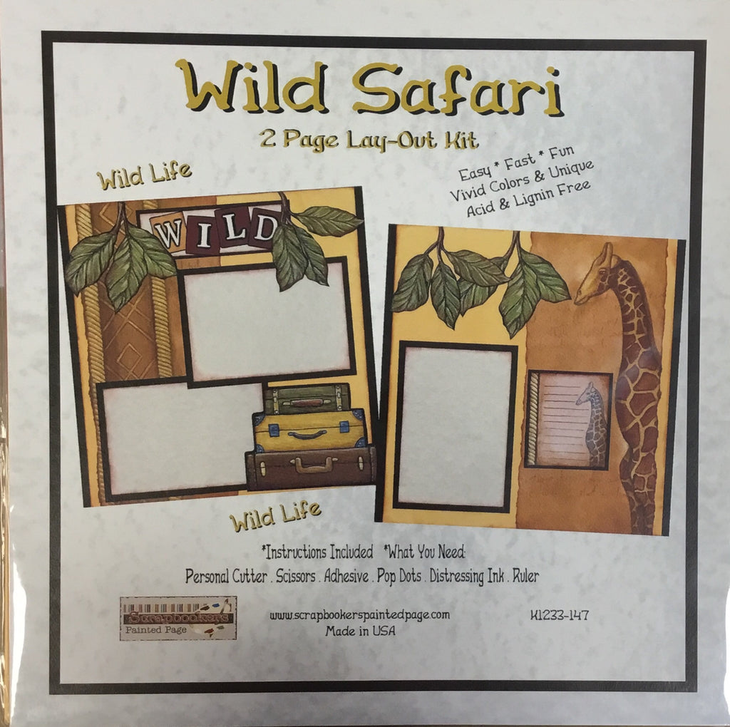 12x12 2 page layout kit Wild Safari