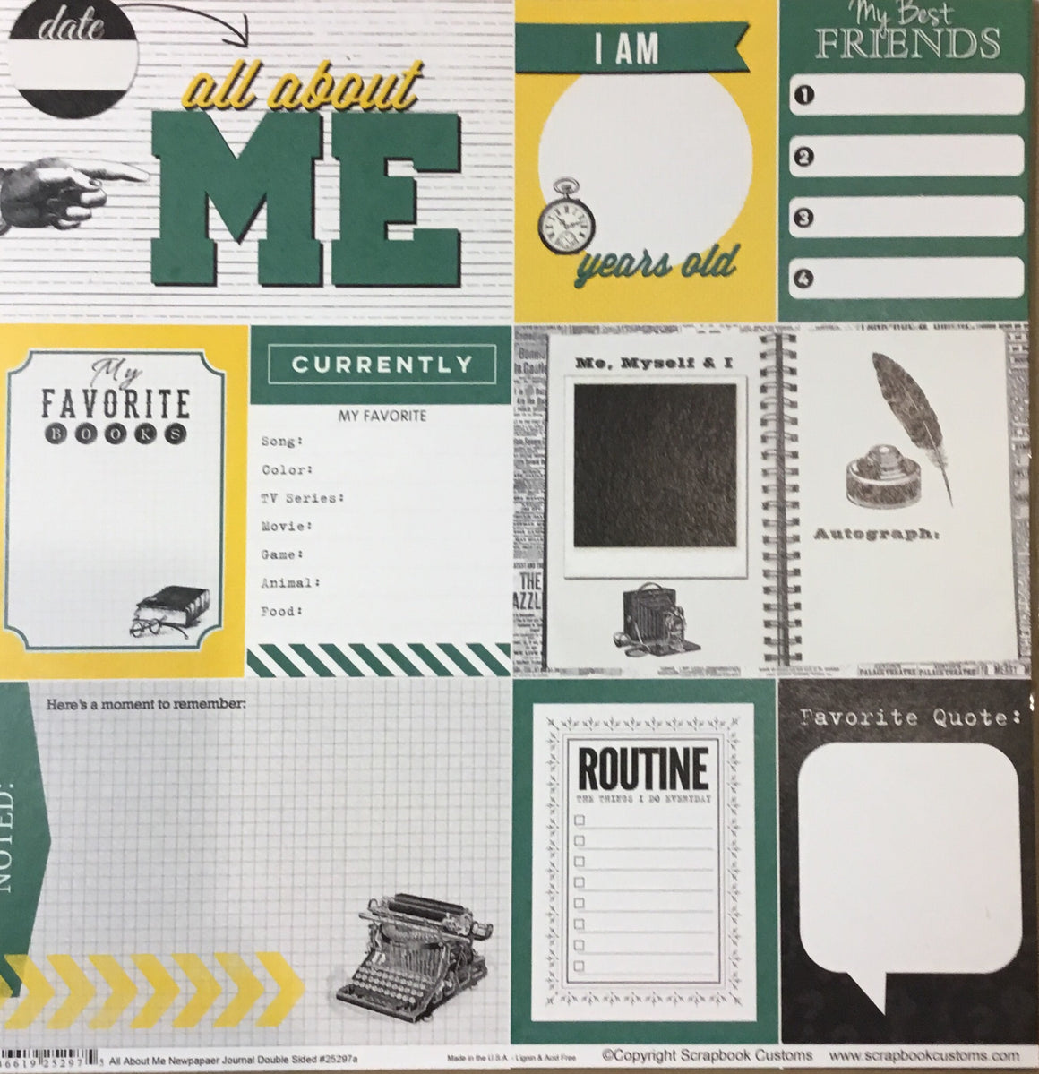 RC LaPerche elementary school all about me newspaper journal DS paper